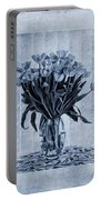 Watercolour Tulips In Blue Portable Battery Charger