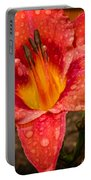 Watered Lily Portable Battery Charger