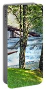 Waterfall And Hammock In Summer 3 Portable Battery Charger
