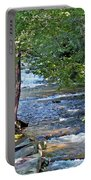 Waterfall And Hammock In Summer Portable Battery Charger