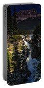 Waterfall And Mountain In Jasper Portable Battery Charger