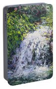 Waterfall At Chicago Botanic Gardens Portable Battery Charger