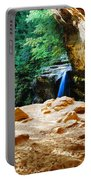 Waterfall At Cliff Side Portable Battery Charger