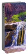 Waterfall At Coyote Creek Portable Battery Charger
