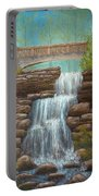 Waterfall At East Hampton Portable Battery Charger