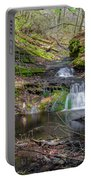 Waterfall At Parfrey's Glen Portable Battery Charger