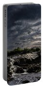 Waterfall At Sunrise Portable Battery Charger by Bob Orsillo
