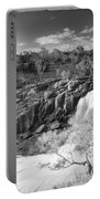 Waterfall Black And White Portable Battery Charger