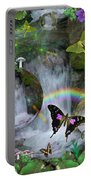 Waterfall Daydream Portable Battery Charger by Alixandra Mullins