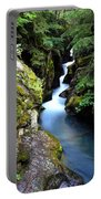 Waterfall, Glacier National Park Portable Battery Charger