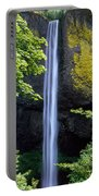Waterfall In A Forest, Latourell Falls Portable Battery Charger
