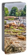 Waterfall In Contrast Portable Battery Charger
