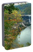 Waterfall In Forest, Cumberland Falls Portable Battery Charger