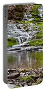 Waterfall In The Forest In Autumn Season  Portable Battery Charger