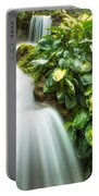 Waterfall In The Hosta Portable Battery Charger