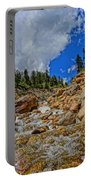 Waterfall In The Rockies Portable Battery Charger