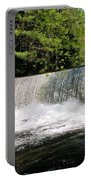 Waterfall In Woodstock Vermont Portable Battery Charger