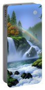 Waterfall Portable Battery Charger by Jerry LoFaro