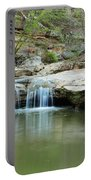 Waterfall On Piney Creek Portable Battery Charger