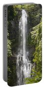 Waterfall On The Road To Hana Portable Battery Charger