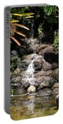 Waterfall On The Rocks Portable Battery Charger