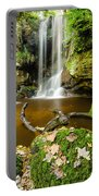 Waterfall With Autumn Leaves Portable Battery Charger