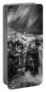 Waterfalls Childs National Park Painted Bw   Portable Battery Charger