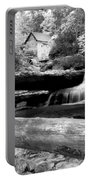 Waterfalls Mill Black N White Portable Battery Charger