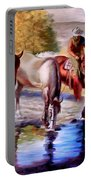 Watering The Horses Portable Battery Charger