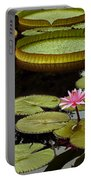 Waterlilies And Platters Vertical Romance Portable Battery Charger