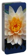 Waterlily After A Shower Portable Battery Charger