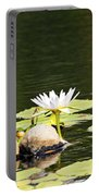 Waterlily And Coconuts Portable Battery Charger