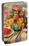 Watermelon And Roses Portable Battery Charger