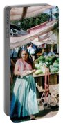 Watermelons At The Market Portable Battery Charger