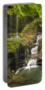 Watkins Glen Falls Portable Battery Charger by Anthony Sacco