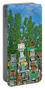 Watson Lake Sign Forest-yt Portable Battery Charger by Ruth Hager