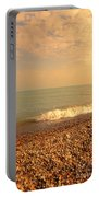 Wave On Rocky Beach Portable Battery Charger