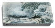 Waves In Stormy Ocean Portable Battery Charger