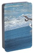 Waves In The Pacific Ocean, Point Reyes Portable Battery Charger