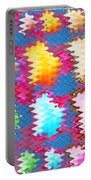 Waves Pattern Crystals Jewels Rose Flower Petals Portable Battery Charger