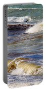 Waves - Wind - Fury Of The Sea Portable Battery Charger