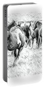 Wavy Horses Portable Battery Charger