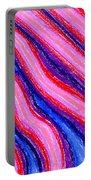 Wavy Oil Pastel Portable Battery Charger by Hakon Soreide