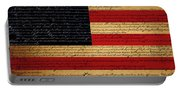 We The People - The Us Constitution With Flag - Square Portable Battery Charger