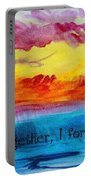 We Were Together I Forget The Rest - Quote By Walt Whitman Portable Battery Charger