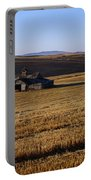 Weathered Barn In Field Portable Battery Charger