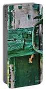 Weathered Green Paint Portable Battery Charger