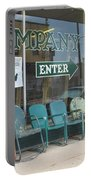 Weathered Old Lawn Chairs Portable Battery Charger