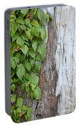 Weathered Tree Trunk With Vines Portable Battery Charger