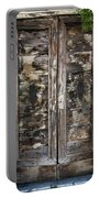 Weathered Wood Door Venice Italy Portable Battery Charger